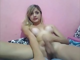 Novinha pirocuda linda batendo uma na webcam